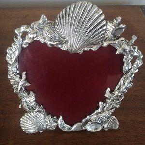 Arthur Court Heart-Shaped Shell Frame